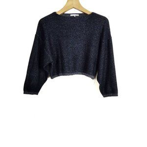 Oak + Fort Cropped Boxy Reverse Stitch Sweater